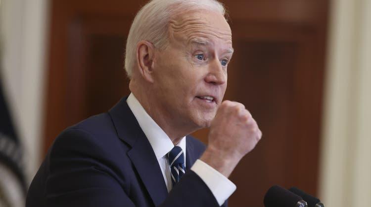 Joe Biden bei seiner ersten offiziellen Pressekonferenz im Weissen Haus. (Oliver Contreras / Pool / EPA)