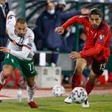 Emobolo, Seferovic, Shaqiri: Die drei Schweizer Torschützen beim 3:1 in Bulgarien. (Laurent Gillieron / KEYSTONE)