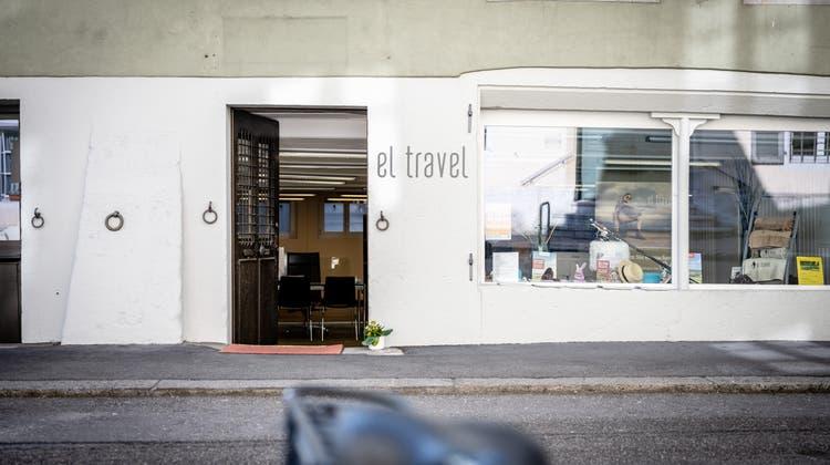 Der Eingang des El Travel Reisebüros in Solothurn. (Michel Lüthi)