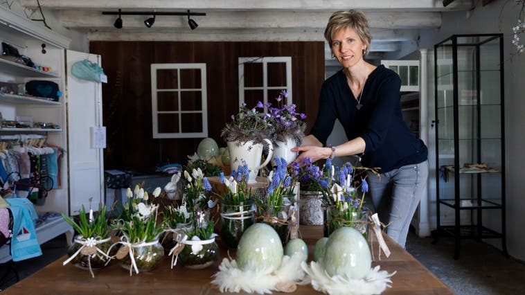 Andrea Beer-Wyss eröffnet in Hessigkofen einen Geschenkladen (Hanspeter Bärtschi)