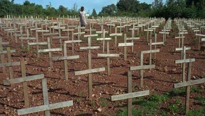 Bei dem Völkermord in Ruanda waren 1994 rund 800'000 Tutsi und gemässigte Hutu getötet worden. (Archivbild). (Foto: Keystone)