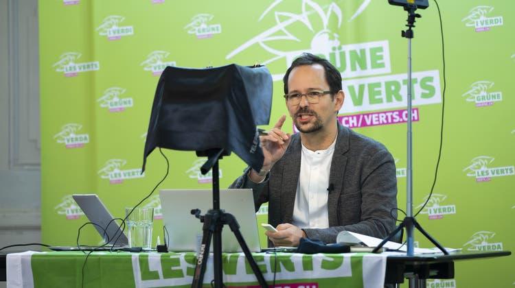 Grünen-Präsident Balthasar Glättli versprach an der letzten Delegiertenversammlung, Frauen mehr Raum zu geben. (Keystone)