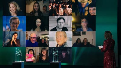 Stream aus dem RTS-Studio: Die Filmpreisverleihung erfolgte dieses Jahr virtuell. (screenshot)