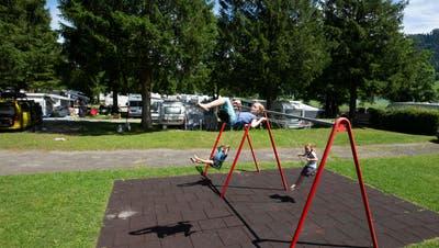 Der Camping in Unterägeri ist – wie schon im letzten Jahr –bereits sehr gut ausgelastet. (Bild: Stefan Kaiser (9. Juli 2020))