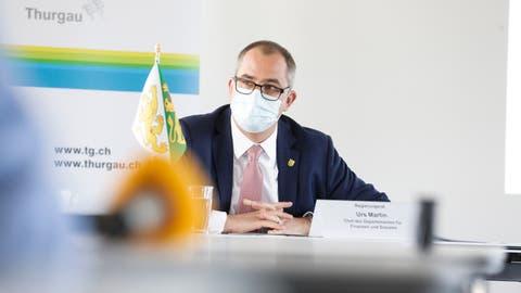 Rekordüberschuss bei der Rechnungspremiere: Regierungsrat Urs Martin, Chef des Departementes für Finanzen und Soziales. (Bild: Donato Caspari)