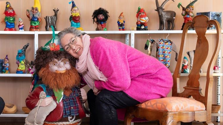 Brigitte Frei (rechts) hat unter anderem gemeinsam mit ihrer Schwester Ursula Fischlin ein Künstlerinnenhaus eingerichtet. (Britta Gut)