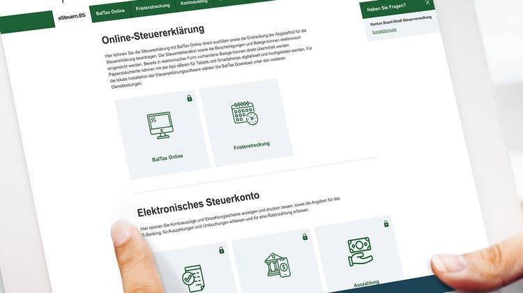 Sieht einfach aus, birgt aber gewissen Hürden: Die neue Basler Online-Steuererklärung. (zVg)