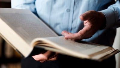 Der Geistschreiber dient diese Woche als Wörterbuch. (Mario Heller)