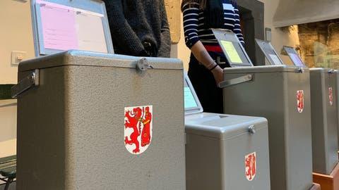Verdacht auf Wahlbetrug bei den Grossratswahlen in Frauenfeld: Blick in ein Stimmlokal.