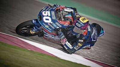 Jason Dupasquier zeigt in der Moto3 zum Saisonauftakt einen starken Auftritt. (Bild: Steve Wobser/Getty (Doha, 26. März 2021))