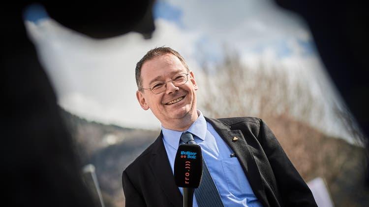 SVP-Kandidat Franz Ruppen wurde am Sonntag neu in die Walliser Regierung gewählt. (Bild: Keystone)