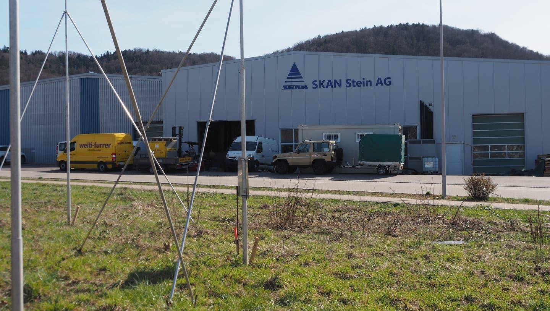 Die Skan AG in Stein baut ihren Standort aus. (Hans Christof Wagner  / Aargauer Zeitung)