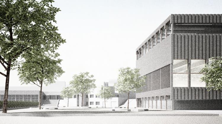 So soll die erweiterte Kantonsschule Limmattal aussehen. (Visualisierung:zvg)