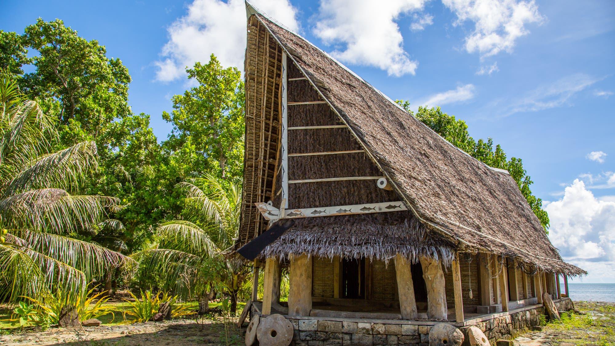 Ein Männerhaus in Yap.