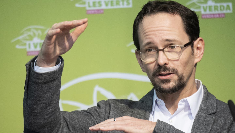 Hoher Einsatz: Die Grüne Partei um Präsident Balthasar Glättli fordert milliardenschwere Investitionen in den nächsten Jahren. (Keystone)