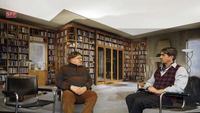 Eine Szene aus dem Film: Hanspeter Bader (links) mit Jens Wachholz. (zvg)
