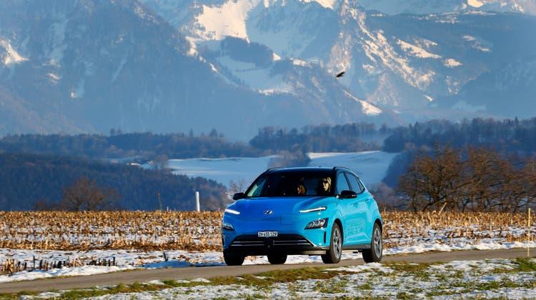Der überarbeitete Hyundai Kona electric mit neuem Frontdesign. (Bild: zVg)