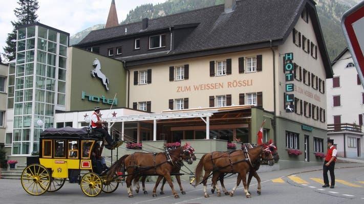 Das Hotel Zum weissen Rössli in Göschenen nimmt am Projekt Beizen für Büezer teil. (Bild: PD)