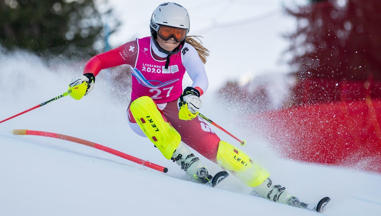 Delia Durrer, hier im Einsatz bei den Jugend-Winterspielen in Lausanne im letzten Winter. (Joel Marklund)