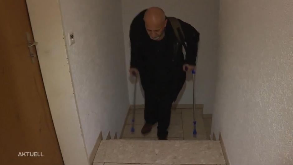 Lift eines achtstöckigen Hauses ist seit Wochen defekt – das heisst: Treppensteigen mit Krücken und keine Ausfahrt für Rollstuhlfahrer