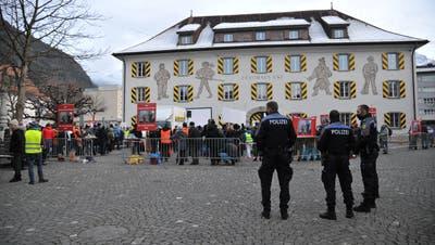 Geht es nach der Urner Regierung, soll es in Altdorf nicht zu weiteren Kundgebungen gegen die Coronamassnahmen kommen. Die Veranstalter ziehen deshalb vor Bundesgericht. (Bild: Urs Hanhart (Altdorf, 9. Januar 2021))