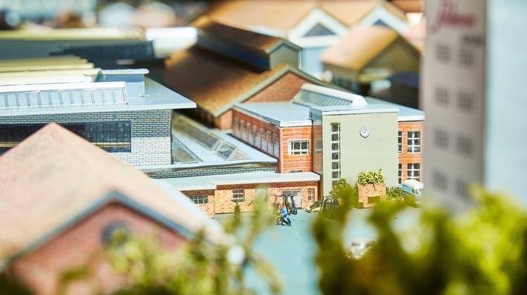 Ein Modell der ehemaligen Fabrik im Wagi-Museum in Schlieren. (Bild: Colin Frei (Mai 2019))