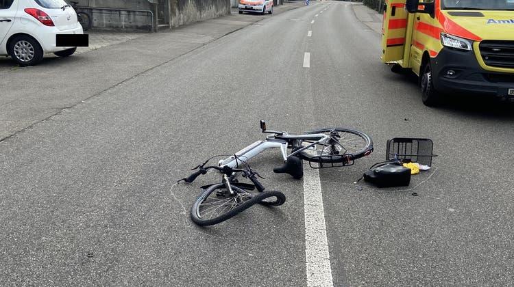 Unfälle mit E-Bikes, wie hier im Sommer 2020 in Liestal, haben sich in den letzten Jahren fast verdoppelt. (Bild: zvg / Polizei BL)