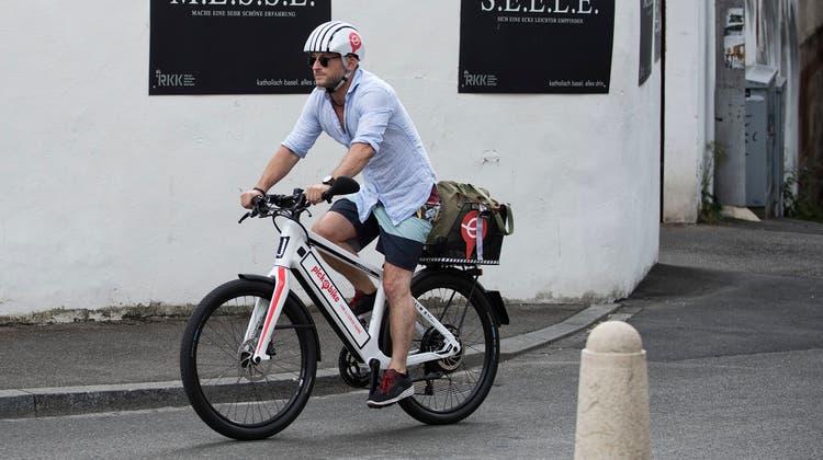 Mit dem Pick-e-Bike nach Riehen: Das ist bald wieder unkompliziert. (Roland Schmid)