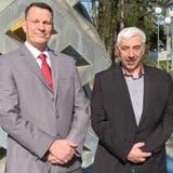 Die beiden SVP-Kandidaten für die Wohler Gemeinderatswahlen 2021: Roland Vogt (links, bisher Vizeammann) und Roland Büchi. (Marc Ribolla)