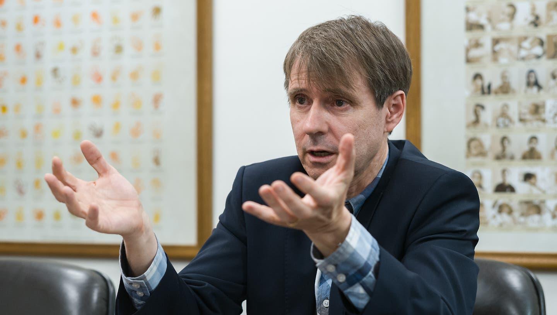 Interview mit dem neuen FCB-Präsidenten Bernhard Burgener, in seiner Firma in Pratteln. (Kenneth Nars / BLZ)