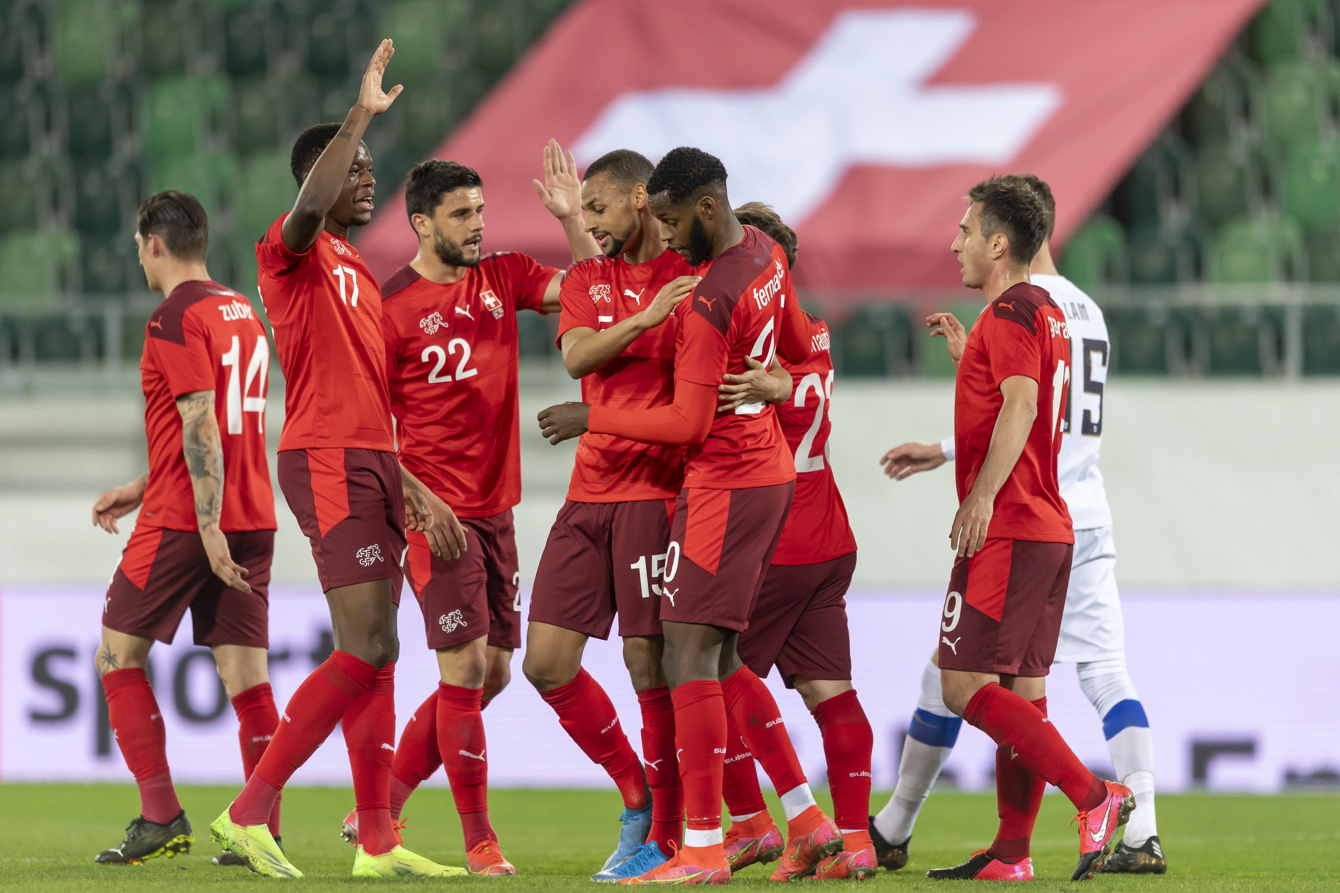 Da lief noch alles nach Plan: Gavranovic bringt die Schweiz in Führung.