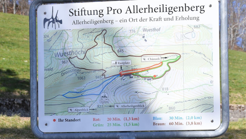 Zu den Wanderwegen auf dem Allerheiligenberg könnte bald noch einer dazukommen. (Bruno Kissling)