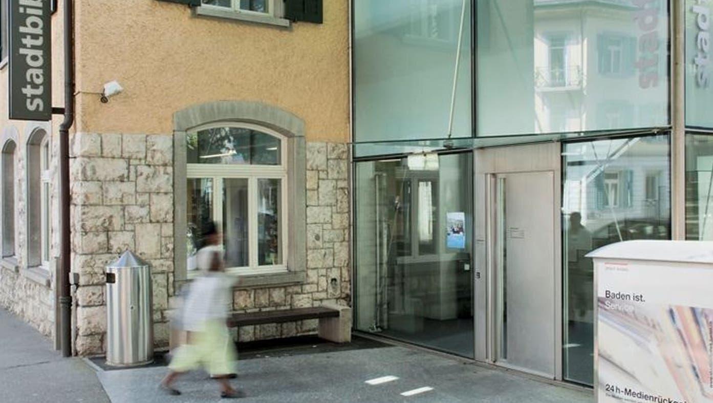 Die Stadtbibliothek Baden: Der dritte Schreibdienst-Standort im Aargau. (Bild: Zvg)