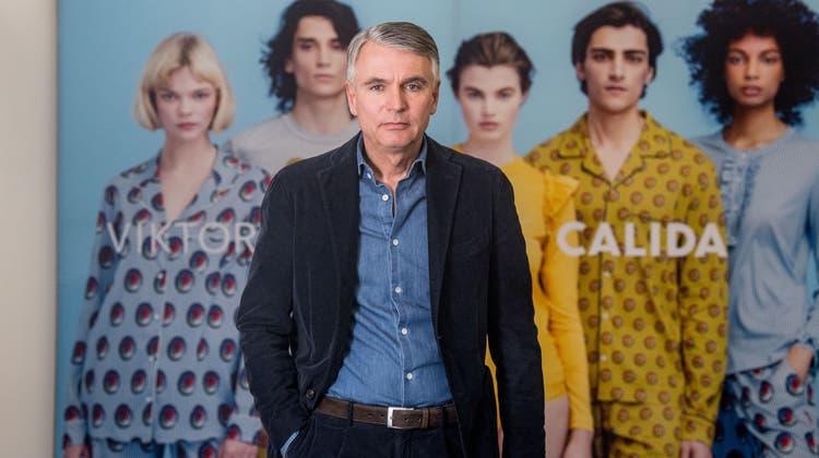 Der abtretende Calida-CEO Reiner Pichler am Hauptsitz in Sursee. (Bild: Nadia Schärli (5. März 2020))