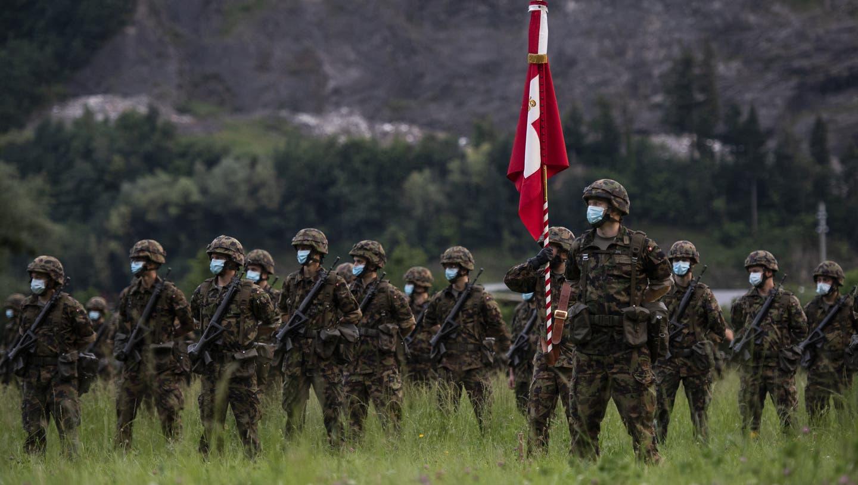 Leicht erhöhte Tauglichkeit der Stellungspflichtigen bei der Schweizer Armee im 2020. (Symbolbild) (Keystone)