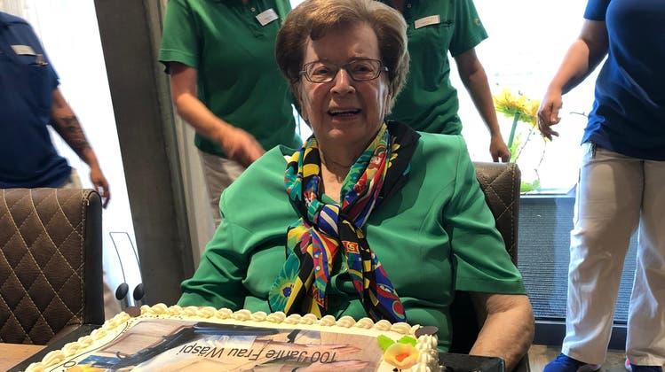 Bertha Wäspi-Joller feiert ihren 100. Geburtstag. (Bild: PD)