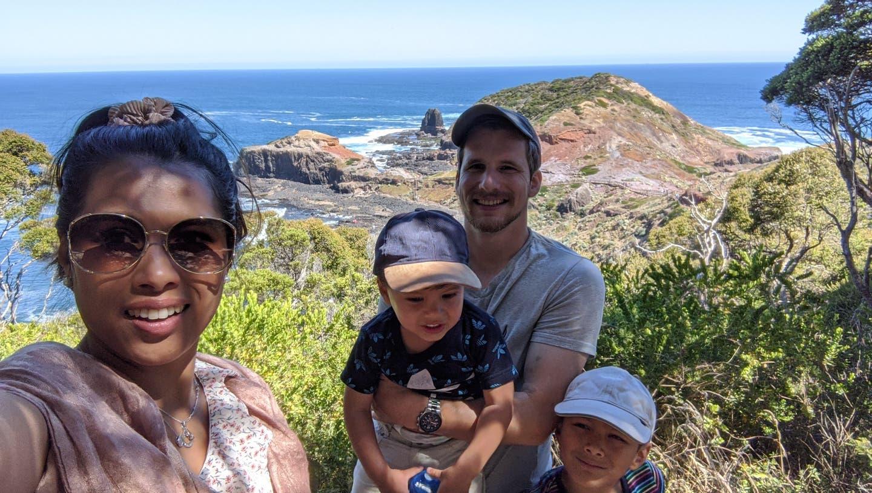 Pascal Birrfelder aus Mönthal ist Ende 2013 nach Australien ausgewandert. Mit seiner Ehefrau Vary und den beiden Söhnen, Ethan ist sechs und Cody zwei Jahre alt, lebt er im Bundesstaat Victoria. (Bild: zvg)