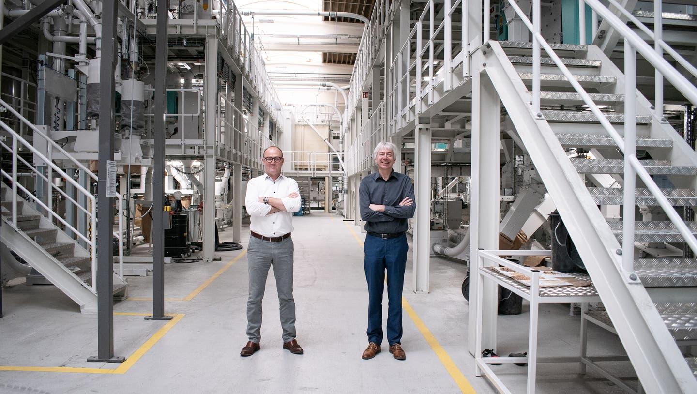 Peter Vyncke, Inhaber von Vyncke N.V.(links), und Johannes Wick, Chefvon Bühler Grain & Food. (PD)
