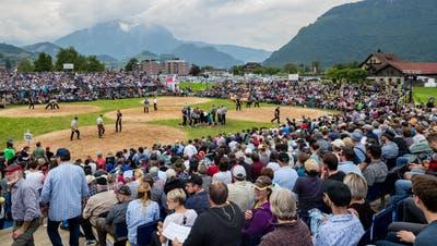 Wann finden wieder Schwingfeste wie hier in Oberdorf statt? (Bild: Philipp Schmidli (26. Mai 2019))