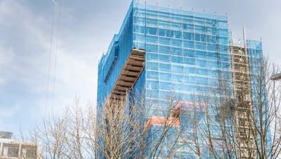 Der alteBettenturm des Kantonsspitals Frauenfeld ist im Rückbau begriffen. (Andrea Stalder)