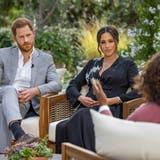 Im Interview mit Oprah Winfrey: Prinz Harry und Meghan Markle. (Joe Pugliese / AP Harpo Productions)