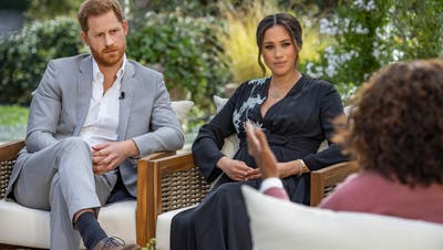 Im Interview mit Oprah Winfrey: Prinz Harry und Meghan Markle. (Joe Pugliese / AP Harpo Productions)