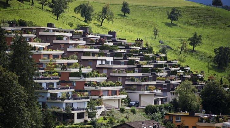 Die Terrassensiedlung «Im Blatt» wurde zwischen 1974 und 1983 gebaut. (Bild: Stefan Kaiser (Neuheim, 31. August 2020))