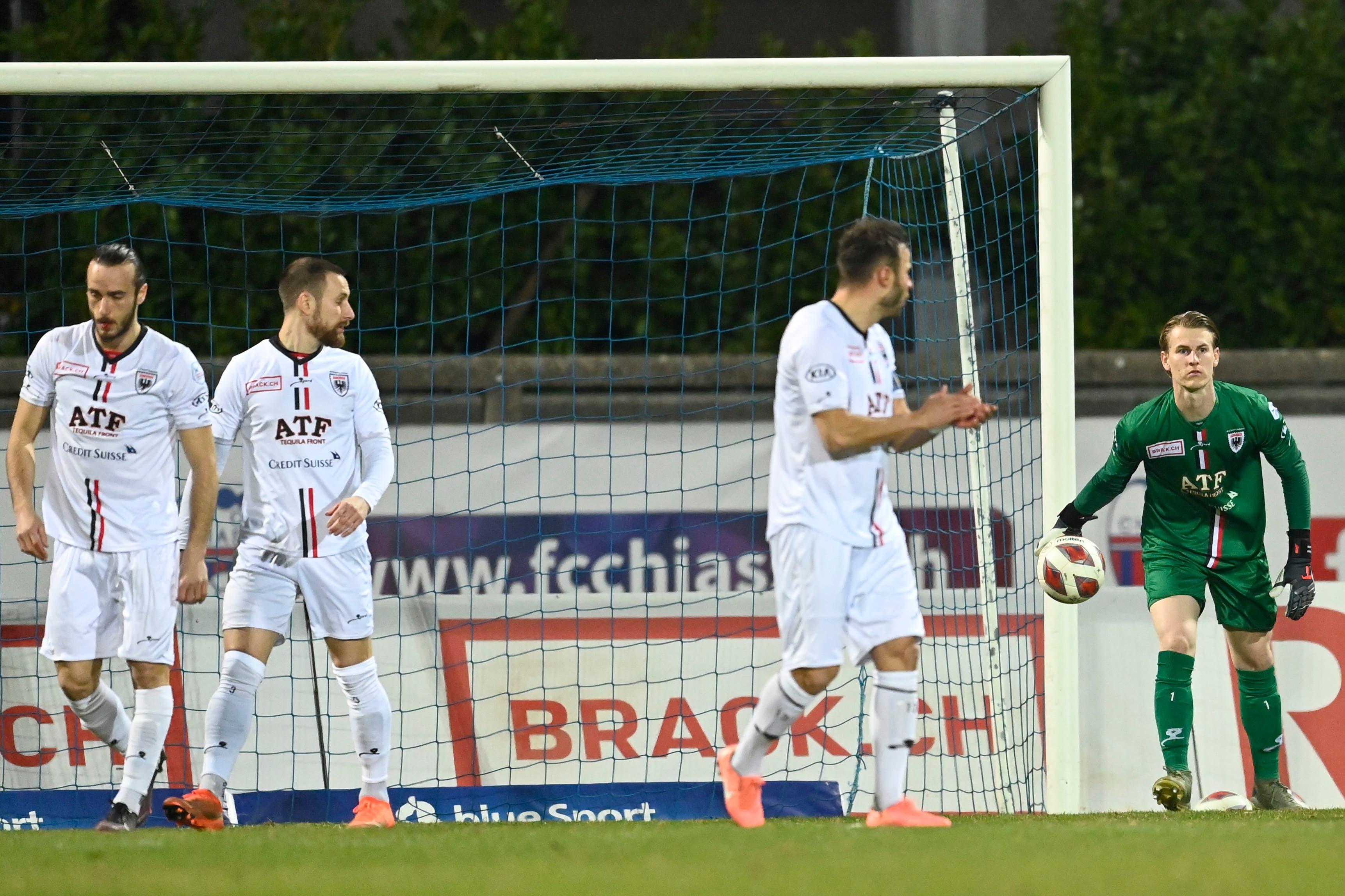 Schon nach vier Minuten des Spiels ist die Enttäuschung in den Gesichtern der Aarauer zu sehen.