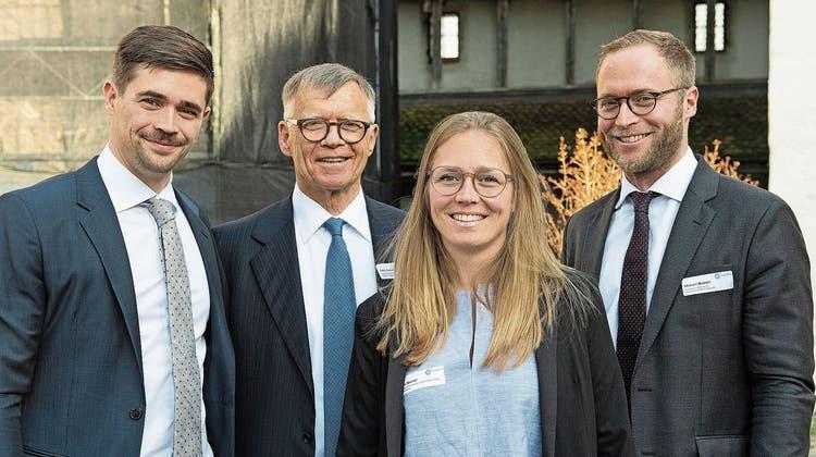 Die Familienmitglieder, die im Unternehmen tätig sind: Florian, Peter, Anna und Michael Wanner (v.l.), hier an der GV 2019, der letzten, die physisch durchgeführt werden konnte. (Bild: Alex Spichale)