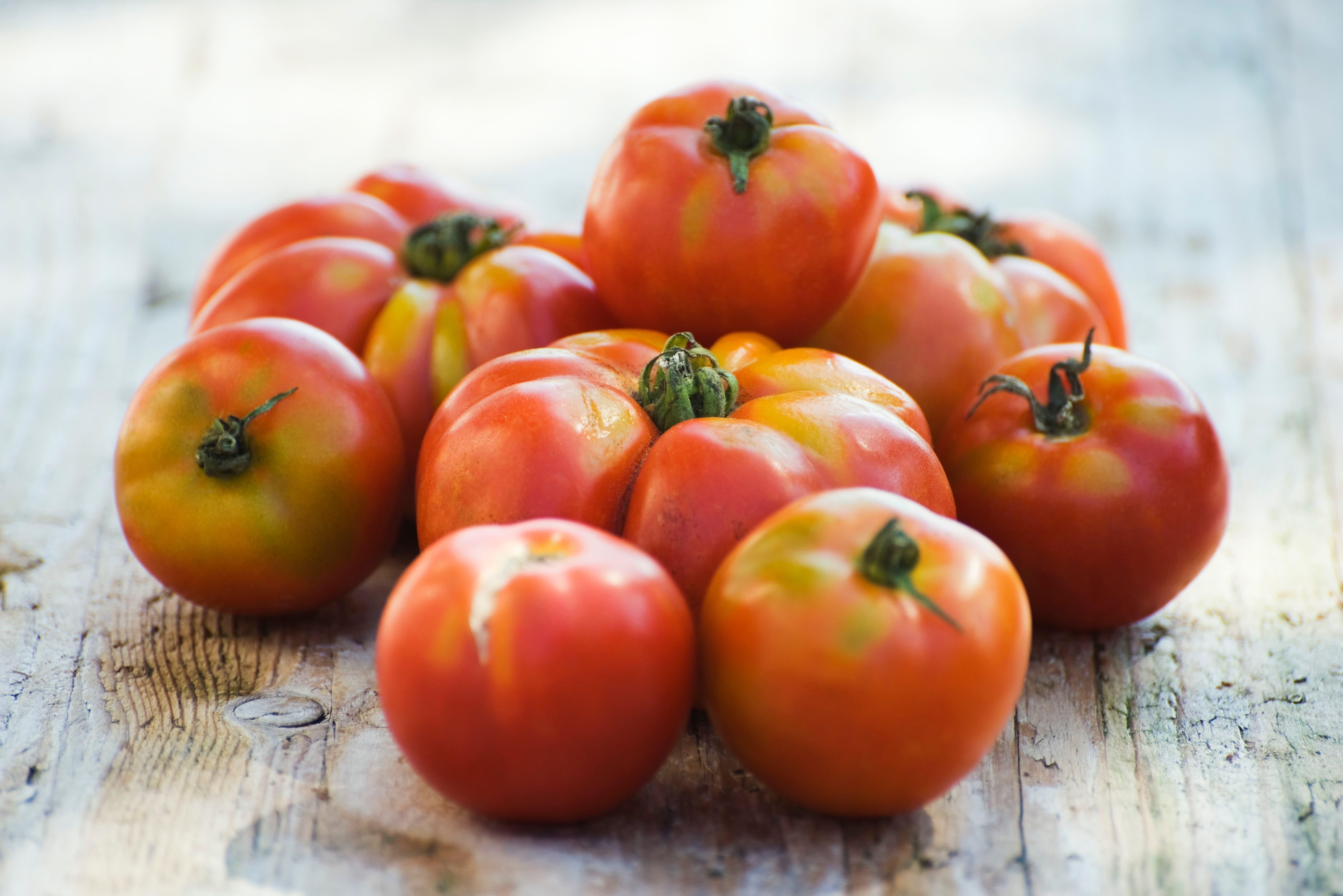 Unterschiedlich grosse Tomaten...