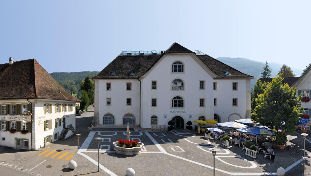 Hotel Balsthal mit seinen drei Häusern (v.l.) Rössli, Kornhaus und Kreuz. (Bruno Kissling)