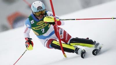 Wendy Holdener fährt in Jasna zum 26. Mal auf ein Slalom-Podest. (Keystone)