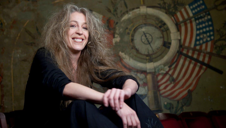Die deutsche Schriftstellerin Tina Uebel (51) (freelens Pool Malzkorn)