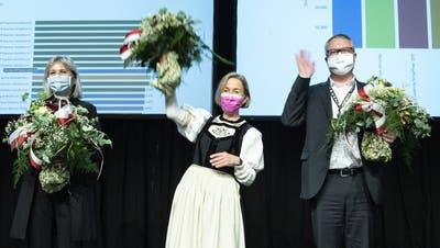 Im Kanton Solothurn wurden die Bisherigen Brigit Wyss (G), Susanne Schaffner (SP) und Remo Ankli (FDP) wiedergewählt. (Peter Schneider/KEY)